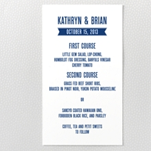 Hearts and Arrows---Letterpress Menu Card