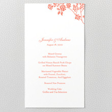 Honeysuckle - Letterpress Menu Card
