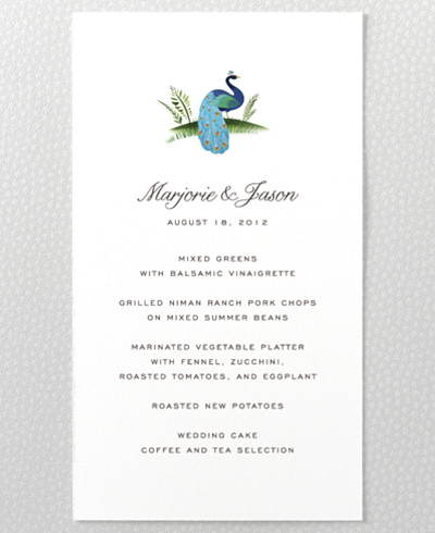 Jaipur Menu Card