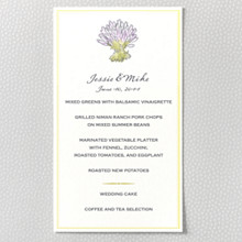 Lavender Harvest: Menu Card