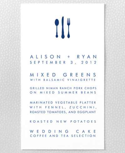 London Skyline Menu Card