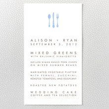 London Skyline ---Letterpress Menu Card