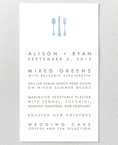 London Skyline Letterpress Menu Card