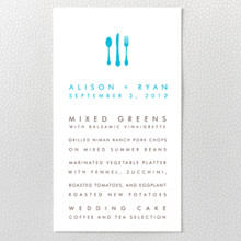 Los Angeles Skyline : Letterpress Menu Card
