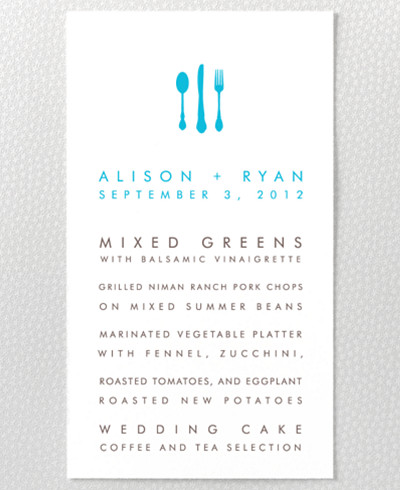 Los Angeles Skyline Letterpress Menu Card