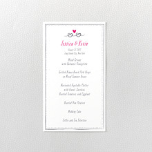 Love Knot---Letterpress Menu Card