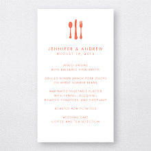 Austin Skyline - Letterpress Menu Card