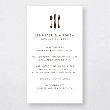 Mountain Skyline: Letterpress Menu Card