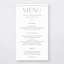 Pop Deco: Foil/Letterpress Menu Card