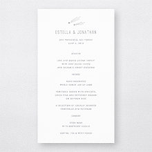 Shooting Star - Foil/Letterpress Menu Card