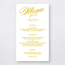 Symphony: Foil/Letterpress Menu Card