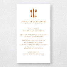 Wine Country Skyline - Letterpress Menu Card
