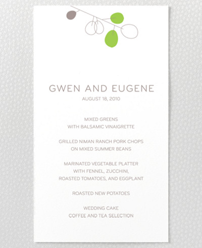 Lunaria Menu Card