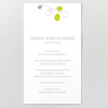 Lunaria: Letterpress Menu Card