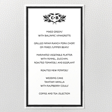Marquee - Letterpress Menu Card