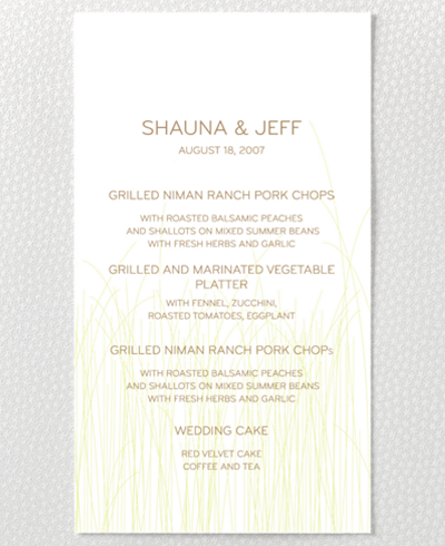 Meadow Letterpress Menu Card