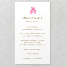 Medjool: Letterpress Menu Card