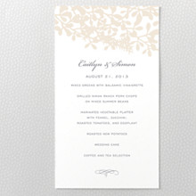 Midsummer: Letterpress Menu Card