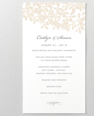 Midsummer Menu Card