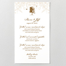 Naturalist - Letterpress Menu Card