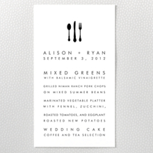 New York City Skyline: Menu Card