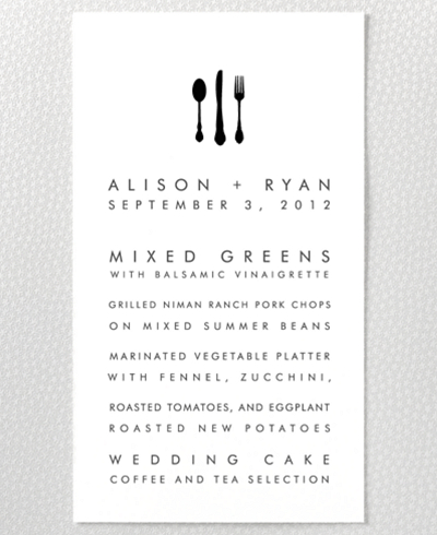 New York Skyline Menu Card