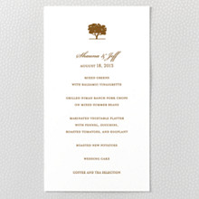 Oak - Letterpress Menu Card