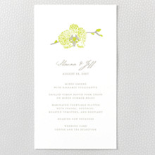 Orchid - Menu Card
