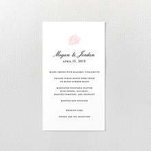 Peonies - Letterpress Menu Card