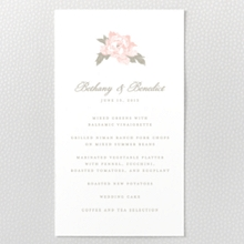 Romantic Garden - Letterpress Menu Card