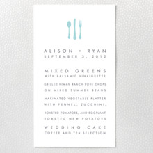 San Francisco Skyline---Letterpress Menu Card