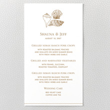 Seashore: Letterpress Menu Card