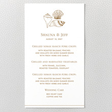 Seashore - Menu Card