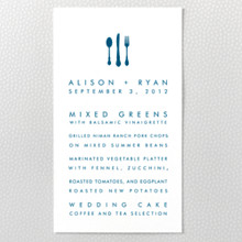 Seattle Skyline ---Menu Card