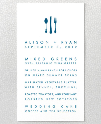 Seattle Skyline Menu Card