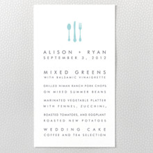Seattle Skyline ---Letterpress Menu Card