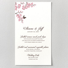 Shangri-La - Letterpress Menu Card