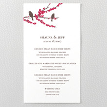 Sparrows: Letterpress Menu Card