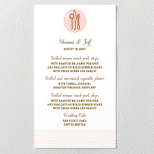 Sweetheart - Letterpress Menu Card