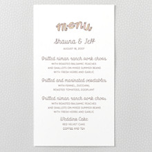 Tie The Knot : Letterpress Menu Card