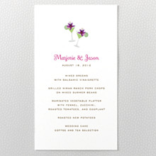Tropical Paradise - Menu Card