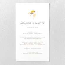Tropic: Letterpress Menu Card