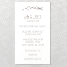Tuscany: Letterpress Menu Card
