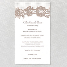 Vintage Lace---Letterpress Menu Card