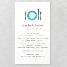 Visit Chicago  - Letterpress Menu Card