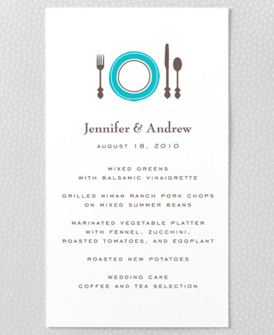 Visit Chicago Letterpress Menu Card
