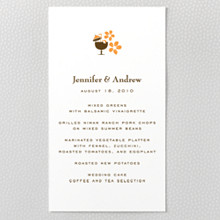 Visit Hawaii ---Letterpress Menu Card