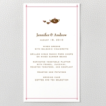 Visit London ---Letterpress Menu Card