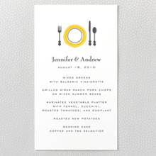 Visit Los Angeles ---Letterpress Menu card