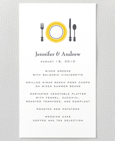 Visit Los Angeles Menu card
